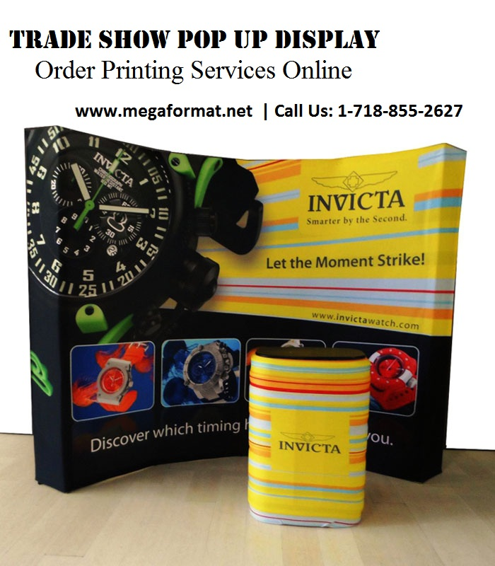 Trade Show Pop Up Display – Order Printing Services Online --Pop Up Displa - Pop Up Display Printing - Exhibit pop up Display