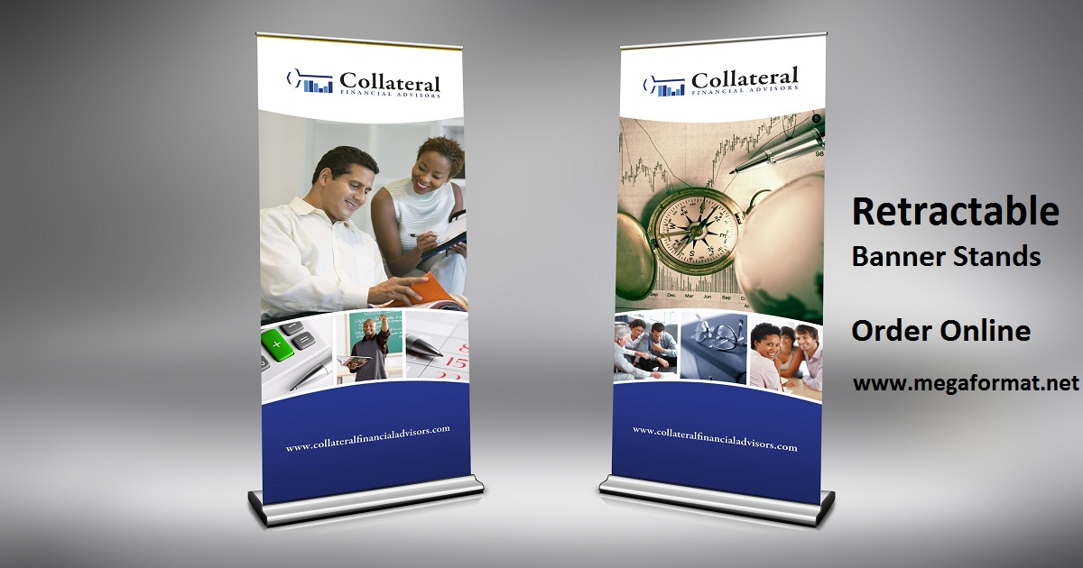 Retractable Banner Stands - Order Retractable Banner Printing Online