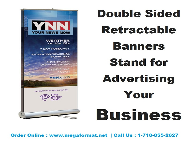 Retractable Banner Double Sided - Double Sided Pull Up Banner - Double Sided Retractable Banners