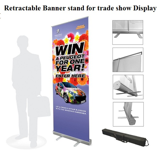 Retractable Banner stand for trade show Display