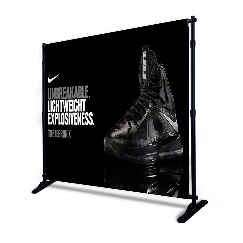 Custom printed backdrop adjustable stand