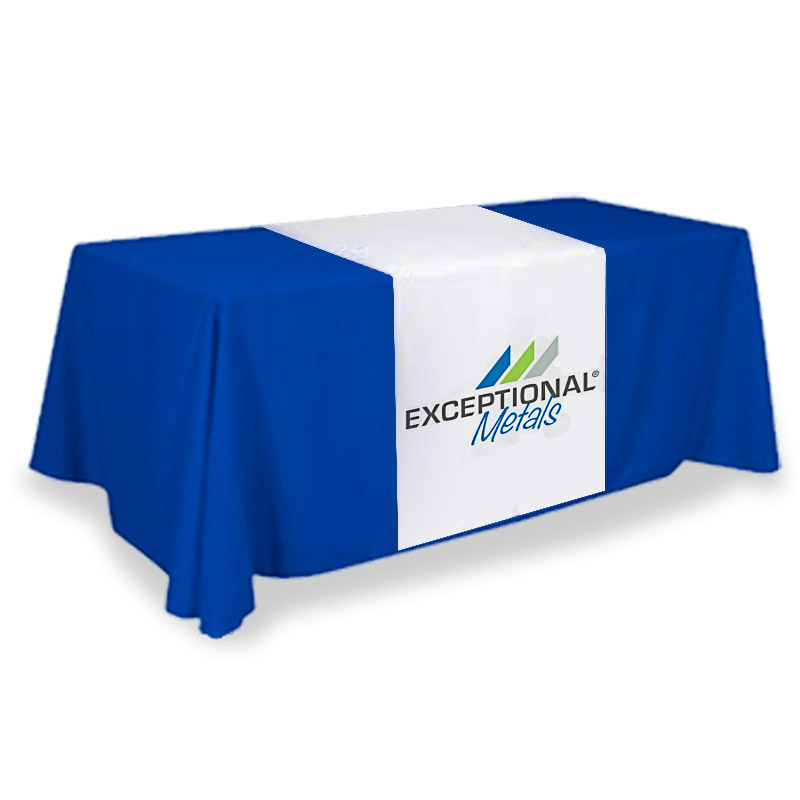 Logo fabric runner for trade show folding table
